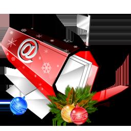 иконки  почта, почтовый ящик, письмо, письма, новый год, рождество, email,