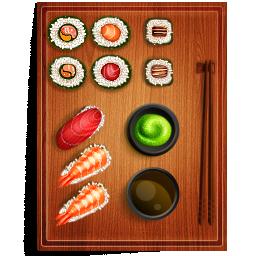 иконки  суши, еда,