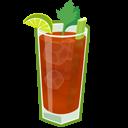 иконка коктейль, кровавая мери, bloody mary,