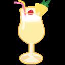 иконки коктейль, алкоголь, pina colada,