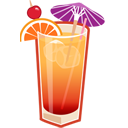 иконка алкоголь, текила, tequila sunrise,