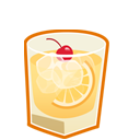 иконка виски, whiskey sour,