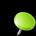 иконка канцелярская кнопка, drawing pin,