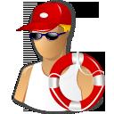 иконки спасатель, спасательный круг, помощь, lifeguard,