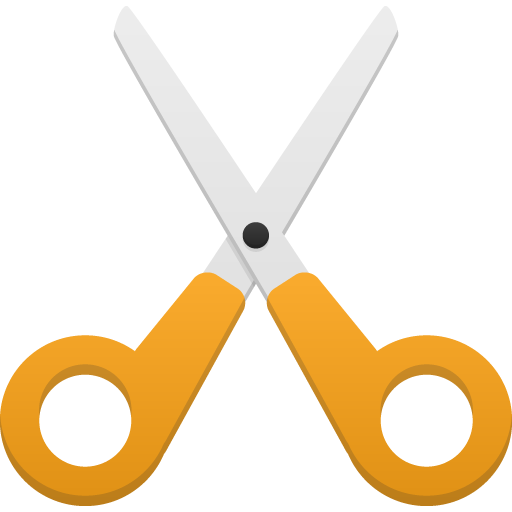 иконка ножницы, обрезать, вырезать, cut,