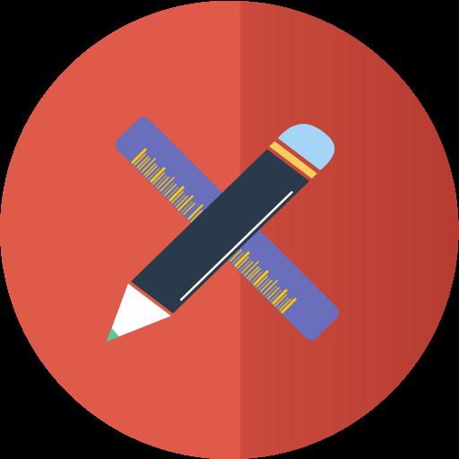 иконка дизайн, дизайнер, карандаш, линейка, design,