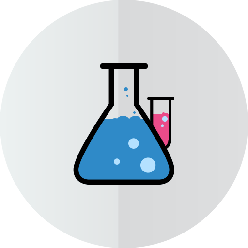 иконка химия, пробирка, колба, лаборатория, lab,