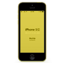 иконка iphone, iphone 5c, yellow iphone 5c, желтый iphone 5c,