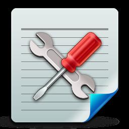 иконка настройки, документ, document config,
