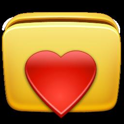 иконки избранное, папка, сердце, folder, favorites,