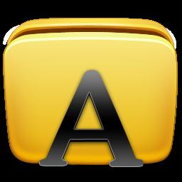 иконки шрифты, папка, шрифт, folder, fonts,