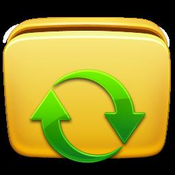 иконки папка, обновить, folder subscription,