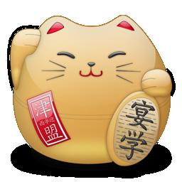 иконки японский кот, амулет,