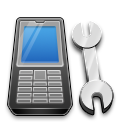 иконки телефон, настройки, мобильный, гаечный ключ,