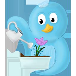 иконки цветок, птица, flower,