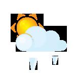 иконка солнце, погода, град, sun, lightcloud, grain,
