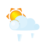 иконки солнце, погода, град, sun, lightcloud, grain,