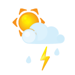 иконка гроза, молния, погода, ливень, дождь, sun, littlecloud, flash, rain,