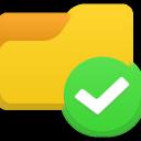 иконка галочка, отметка ,папка, folder access,