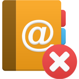иконки удалить, address book delete,