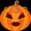 иконки  тыква, хэллоуин, lady,