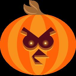 иконка тыква, хэллоуин, bird,