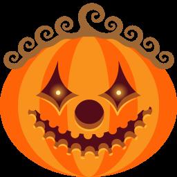 иконка тыква, хэллоуин, clown,