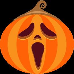 иконка хэллоуин, тыква, крик, scream,