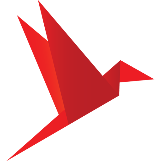 иконка оригами, птица,