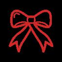 иконки бантик, бант, christmas bow, рождество, новый год,