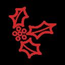 иконки венок, новый год, christmas mistletoe,