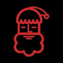 иконки санта, новый год, рождество, christmas santa claus,