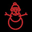 иконки  снеговик, новый год, christmas, snowman,