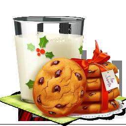 иконки печенье, рождество, уют, молоко, печенье с молоком, новый год, cookies,