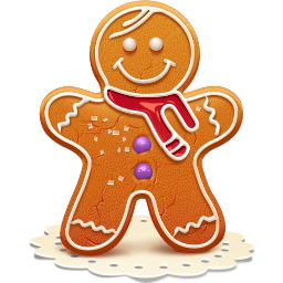 иконки печенье, рождество, новый год, gingerman,