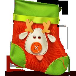 иконки  новогодний носок, новый год, рождество, sock,