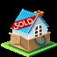 иконки дом, недвижимость, продано, house, sold,