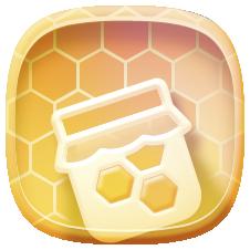 иконки мед, варенье, сладости,