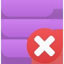 иконка удалить, data delete,