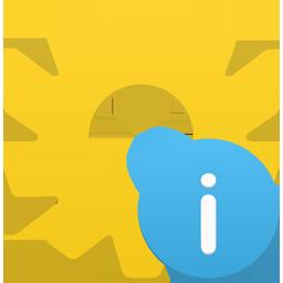 иконка информация, шестеренка, process info,