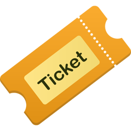 иконки бидет, тикет, ticket,