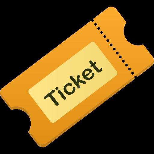 иконка бидет, тикет, ticket,