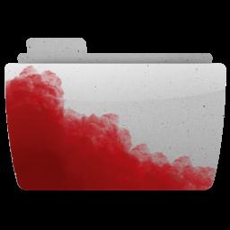 иконки папка, кровь, folder, bloody,