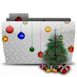 иконка папка, новый год, рождество, folder, xmas, tree,
