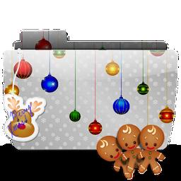 иконки папка, рождество, новый год, печенье, folder, xmas, cookies,