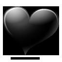 иконки черное сердце, heart,