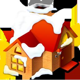 иконки  дом, снег, зима, home,