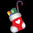 иконки новогодний носок, подарки, рождество, новый год, christmas stocking,