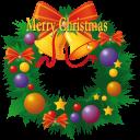 иконки рождественский венок, новый год, рождество, christmas wreath,
