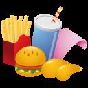 иконки еда, кола, картофель фрии, картофель, гамбургер, fast food,